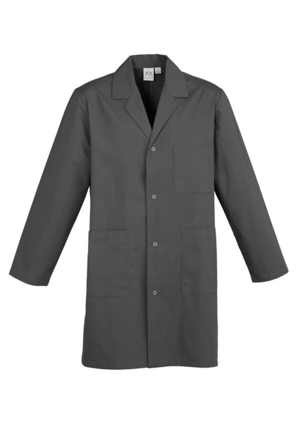 Unisex Classic Lab Coat Charcoal