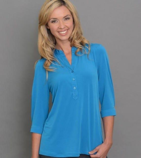 Ladies 3/4 Sleeve Plain Jersey