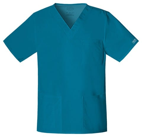 Premium Workwear Unisex Scrubs Top Caribbian Blue