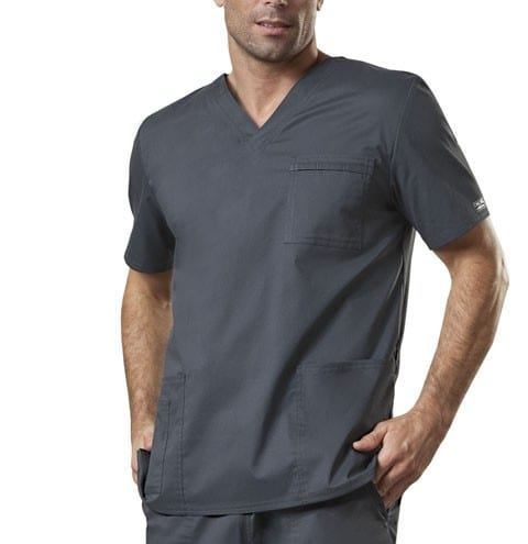 Premium Workwear Unisex Scrubs Top Pewter