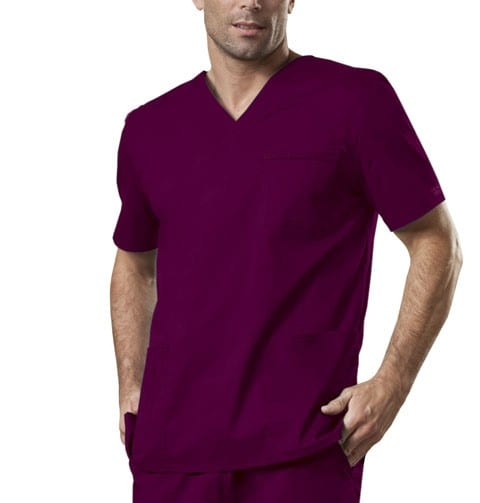 Premium Workwear Unisex Scrubs Top Wine