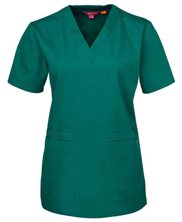 Ladies Scrub Top Green