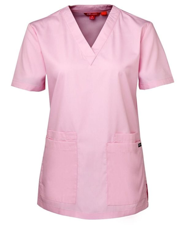 Ladies Scrub Top Pink