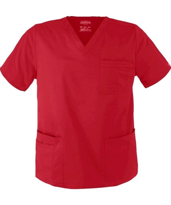 Premium Workwear Unisex Scrubs Top Red