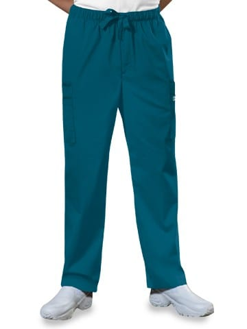 Premium Workwear Mens Drawstring Scrubs Pant Caribbean Blue