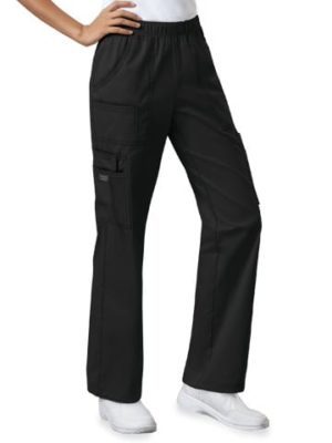Premium Workwear Womens Pull On Scrubs Pant Black