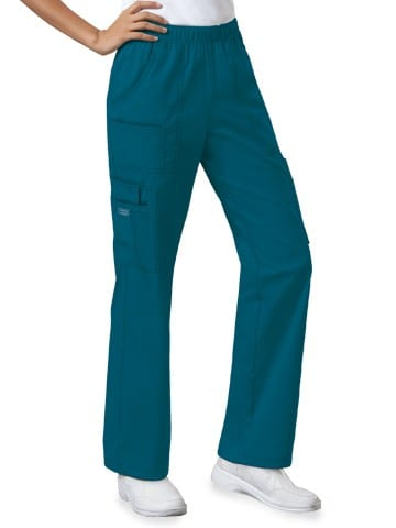 Premium Workwear Womens Pull On Scrubs Pant Caribbean Blue