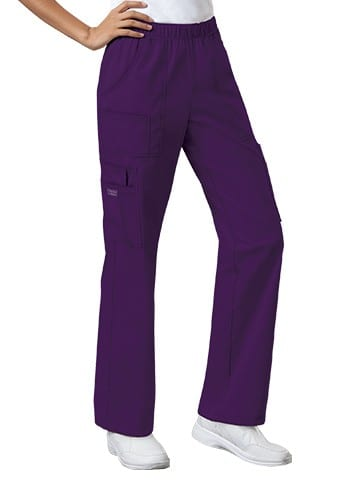 Premium Workwear Womens Pull On Scrubs Pant Eggplant