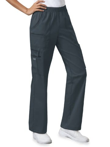 Premium Workwear Womens Pull On Scrubs Pant Pewter