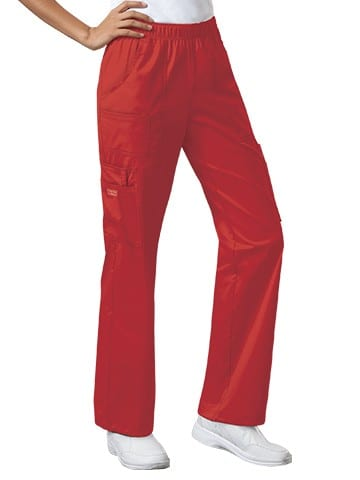 Premium Workwear Womens Pull On Scrubs Pant Red