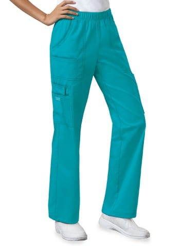 Premium Workwear Womens Pull On Scrubs Pant Shocking Teal