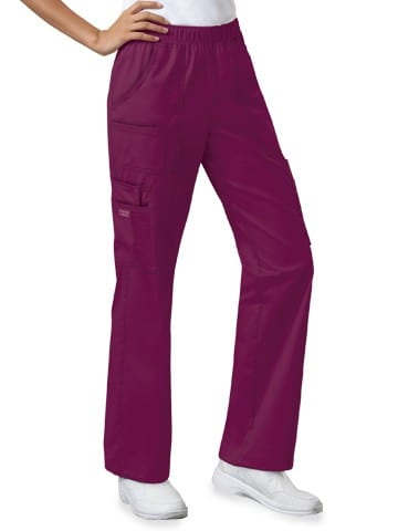 Premium Workwear Womens Pull On Scrubs Pant Wine