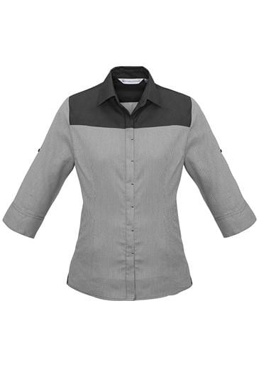 Ladies 3/4 Sleeve Havana Shirt Worn