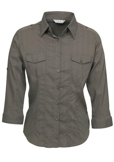 Ladies Roll-Up 3/4 Sleeve Brooklyn Shirt Worn