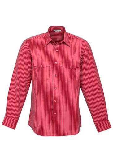 Mens Long Sleeve Cuban Shirt Worn