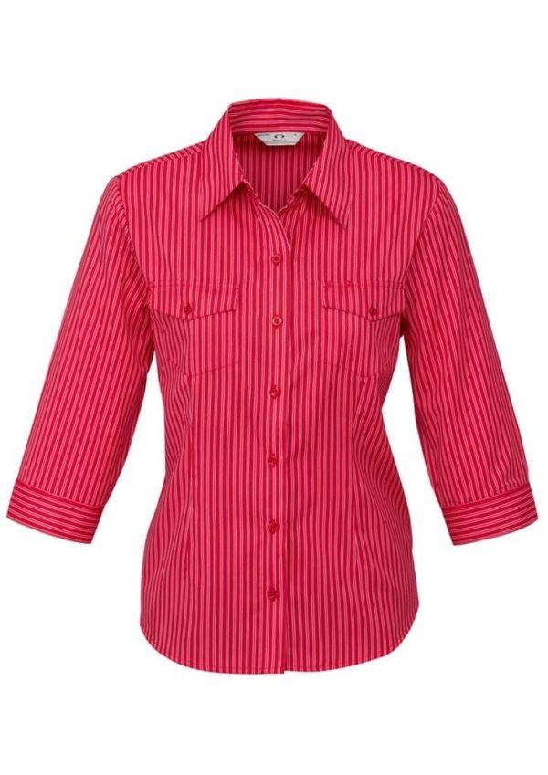 Ladies 3/4 Sleeve Cuban Shirt Worn