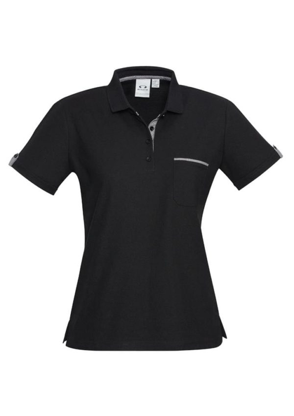 Ladies Edge Polo Black