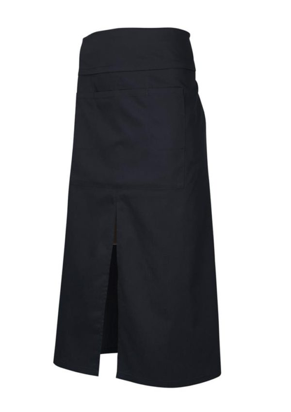 Continental Style Full Length Apron Black