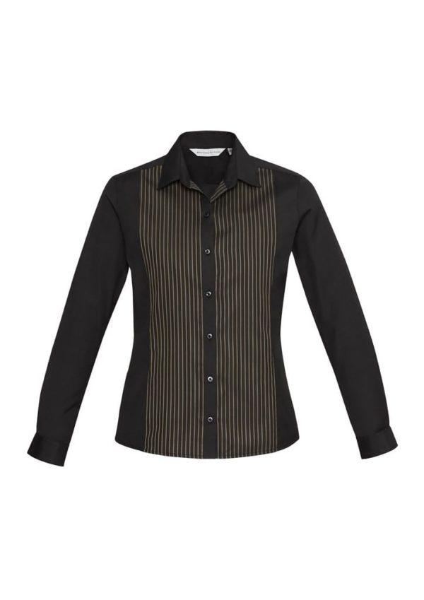 Ladies Reno Panel Long Sleeve Shirt Port Wine
