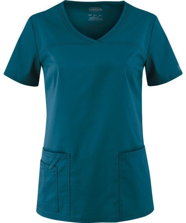 Premium Workwear V-neck Ladies Scrubs Top Caribbean