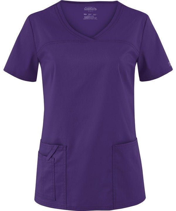 Premium Workwear V-neck Ladies Scrubs Top Grape