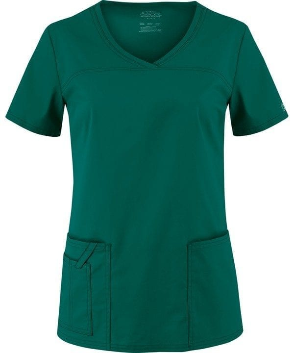 Premium Workwear V-neck Ladies Scrubs Top Hunter