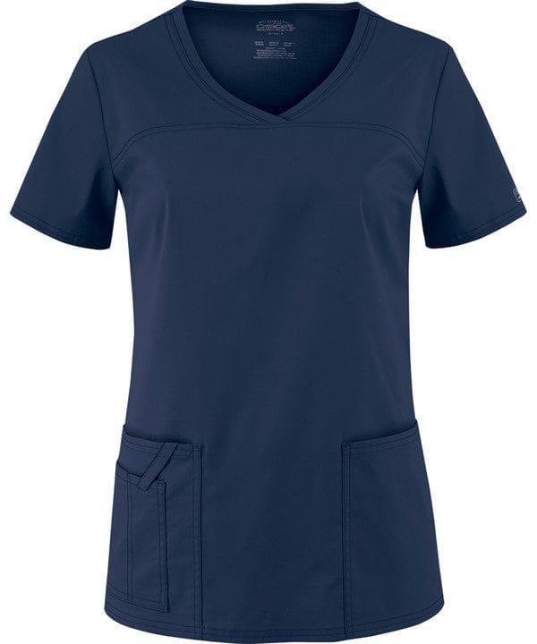 Premium Workwear V-neck Ladies Scrubs Top Navy