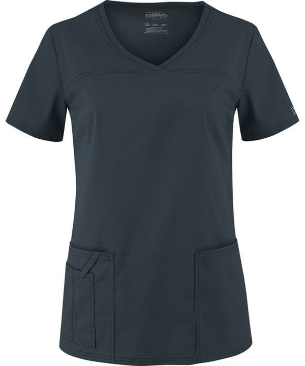 Premium Workwear V-neck Ladies Scrubs Top Pewter