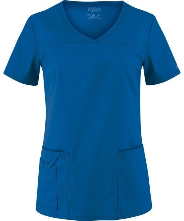 Premium Workwear V-neck Ladies Scrubs Top Royal