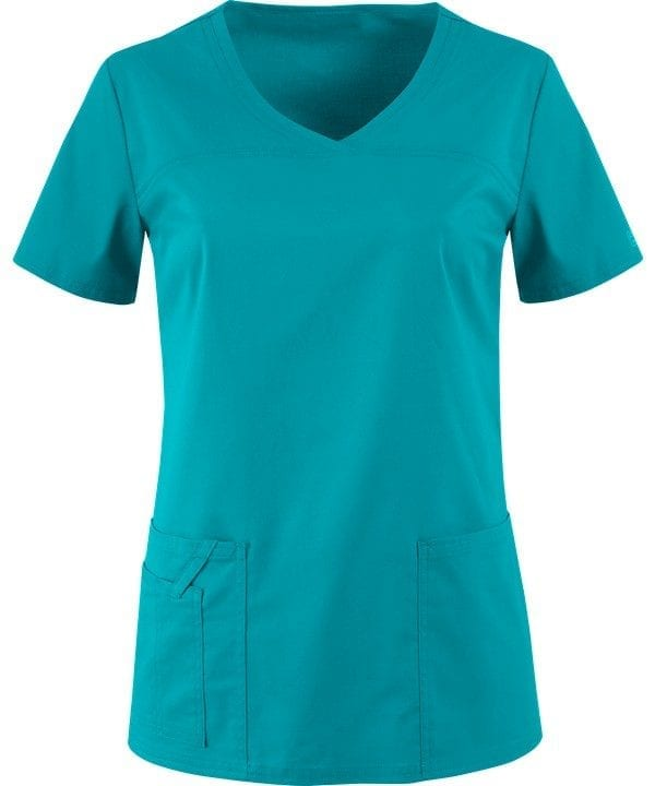 Premium Workwear V-neck Ladies Scrubs Top Teal