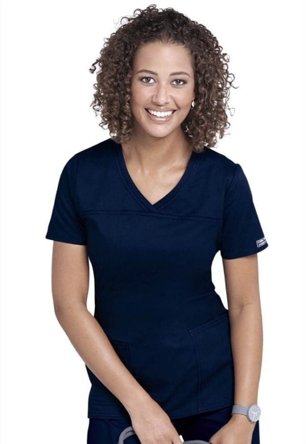 Premium Workwear V-neck Ladies Scrubs Top Worn