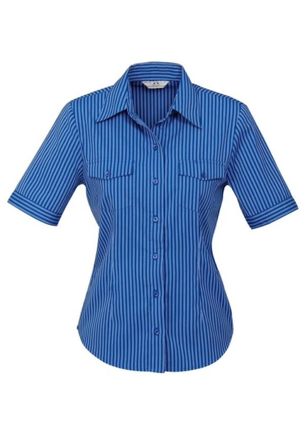 Ladies Short Sleeve Cuban Shirt