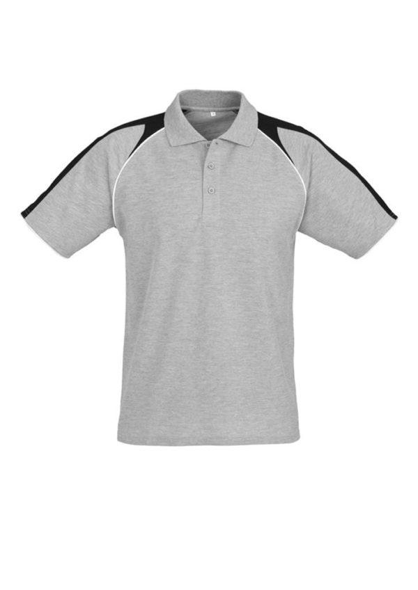 Triton Unisex Polo Ash/Black/White