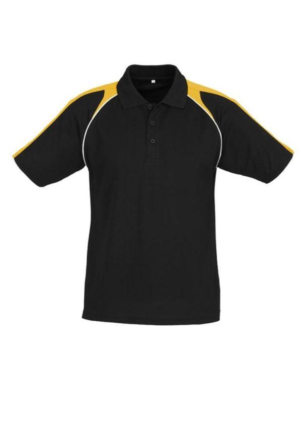 Triton Unisex Polo Black/Gold/White