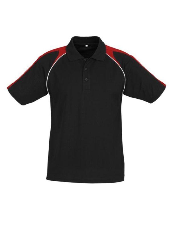 Triton Unisex Polo Black/Red/White