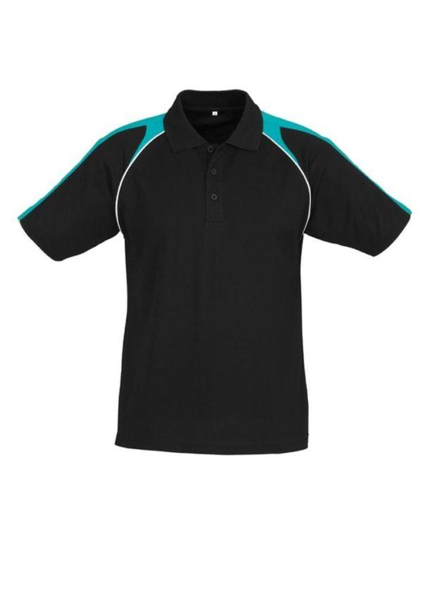 Triton Unisex Polo Black/Teal/White