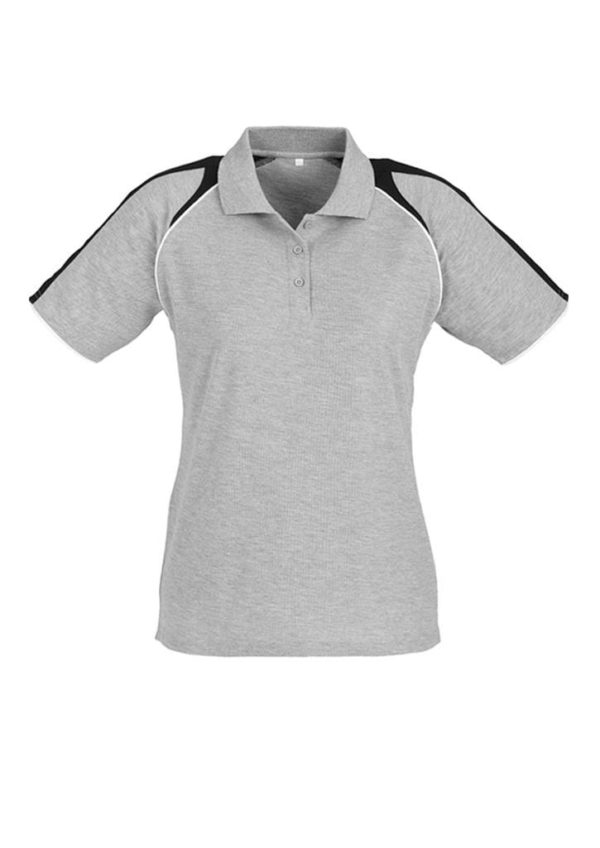 Triton Ladies Polo Ash/Black/White