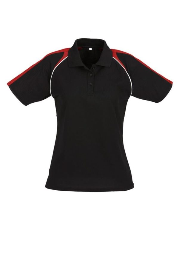 Triton Ladies Polo Black/Red/White
