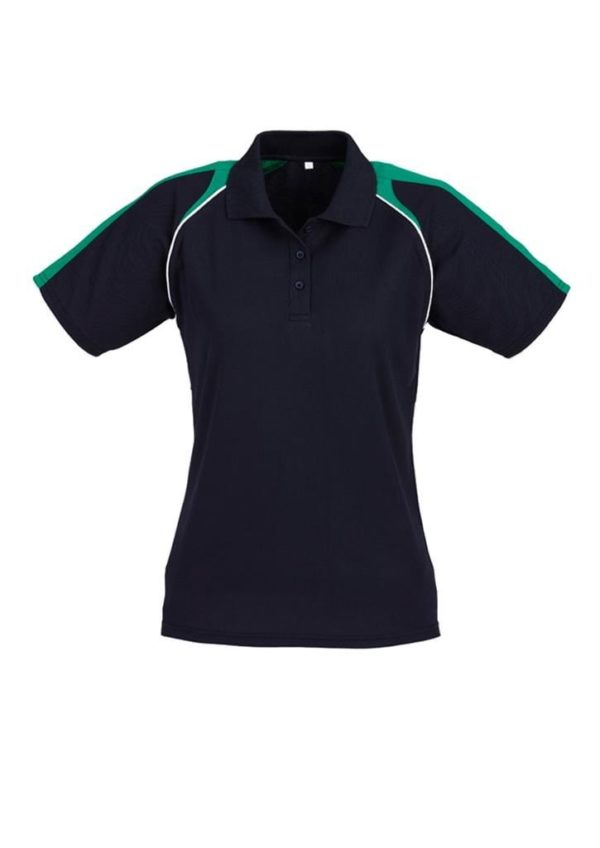 Triton Ladies Polo Navy/Kelly Green/White