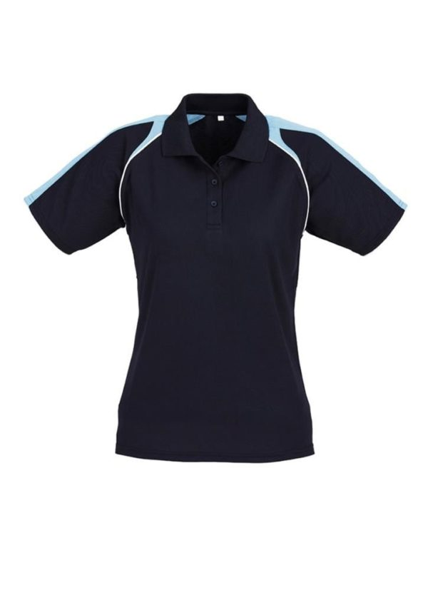 Triton Ladies Polo Navy/Spring Blue/White