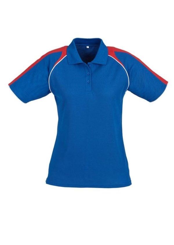 Triton Ladies Polo Royal/Red/White