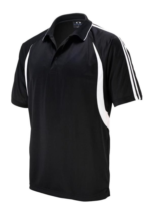 Flash Unisex Polo Black/White