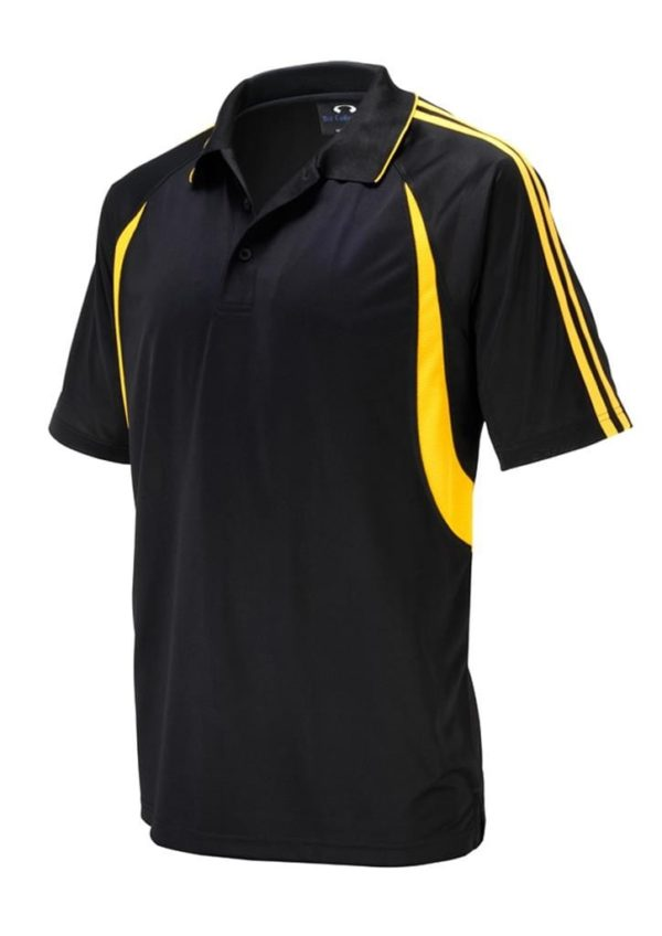 Flash Unisex Polo Black/Gold