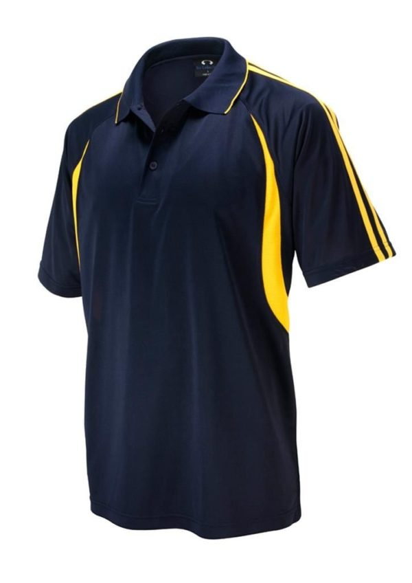 Flash Unisex Polo Navy/Gold