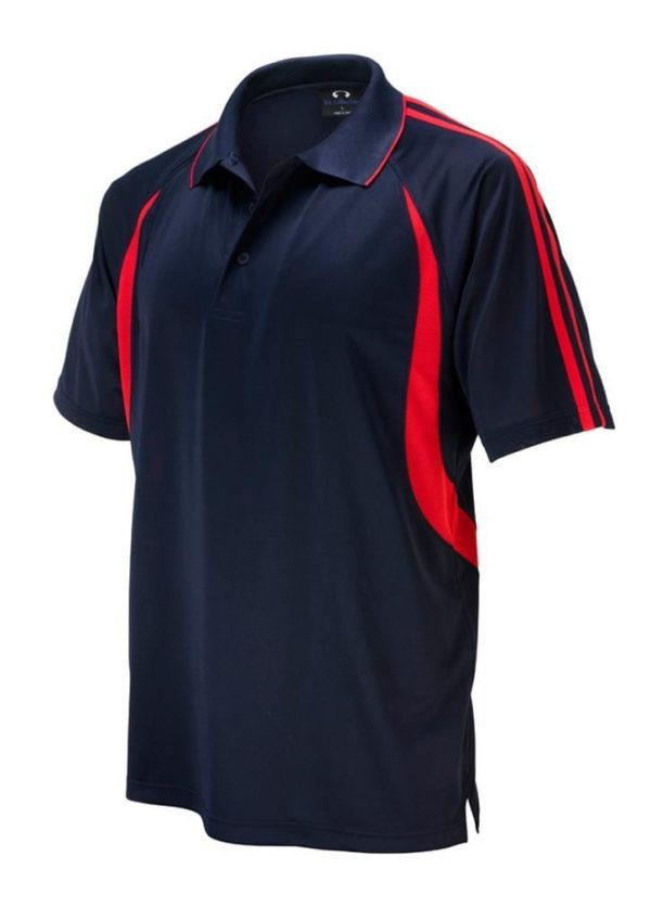 Flash Unisex Polo Navy/Red