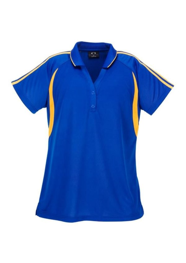 Flash Unisex Polo Royal/Gold