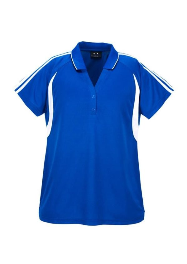 Flash Unisex Polo Royal/White