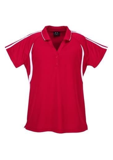 Flash Ladies Polo Red/White