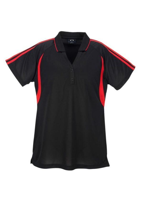 Flash Ladies Polo Black/Red