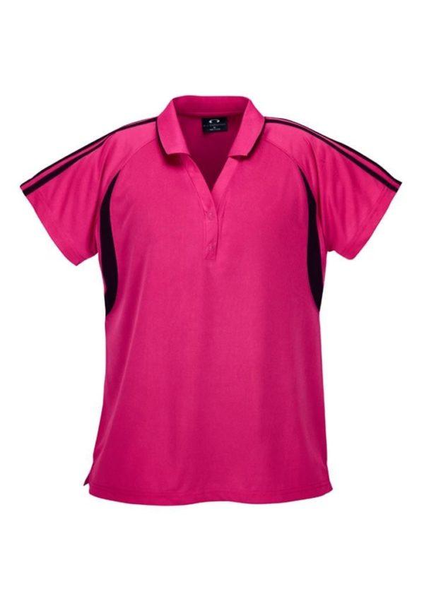 Flash Ladies Polo Hot Pink/Black